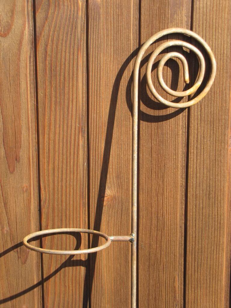 Gartenstecker schnecke aus edelrost mit halterung f r for Tiere aus rostigem eisen
