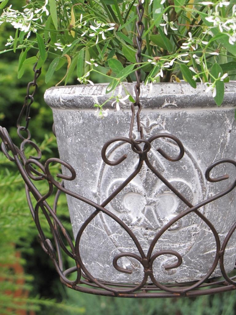 h ngekorb paterno aus metall gro angels garden dekoshop. Black Bedroom Furniture Sets. Home Design Ideas