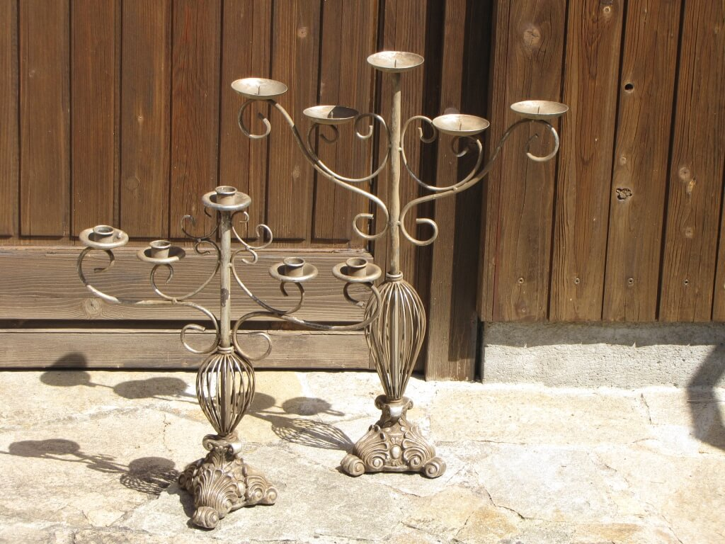 vintage kerzenleuchter 5 armig f r stumpenkerzen angels garden dekoshop. Black Bedroom Furniture Sets. Home Design Ideas