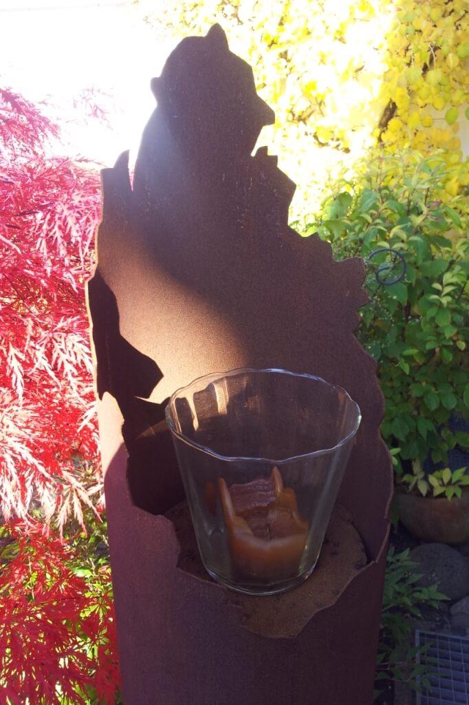 Edelrost leuchts ule f r kerzen oder brennelemente 3 for Gartendeko kerzen