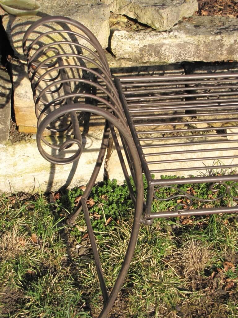gartenbank panca aus metall sitzbank sitzgelegenheit. Black Bedroom Furniture Sets. Home Design Ideas