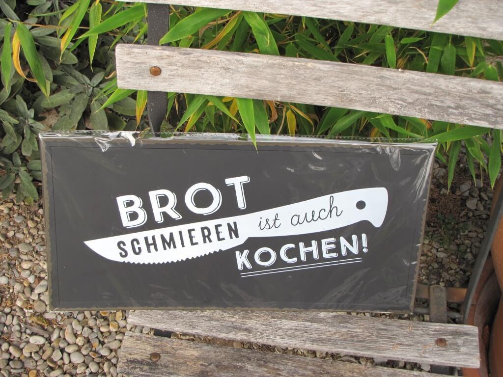 Shabby Chic Metallspruchschild Brot Schmieren Angels Garden Dekoshop