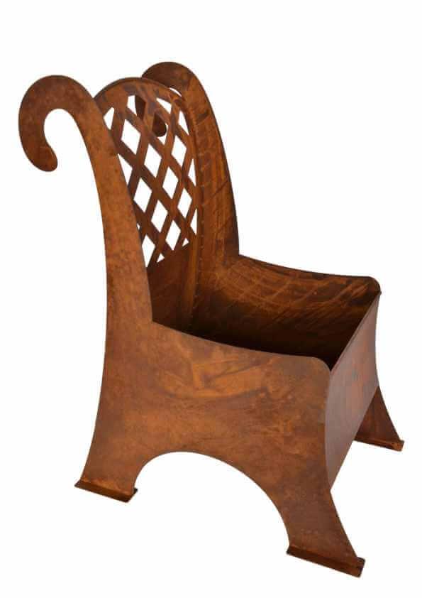 edelrost metallstuhl zum bepflanzen angels garden dekoshop. Black Bedroom Furniture Sets. Home Design Ideas