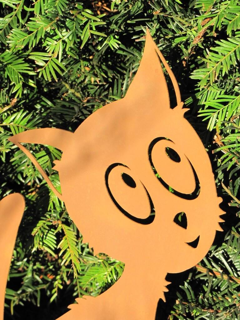 Niedliches k tzchen aus edelrost angels garden dekoshop for Edelrost tiere