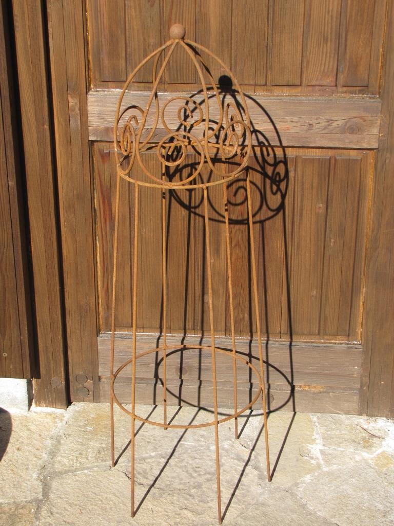 100 cm rankhilfe lercara aus metall f r stauden angels for Tiere aus metall gartendeko