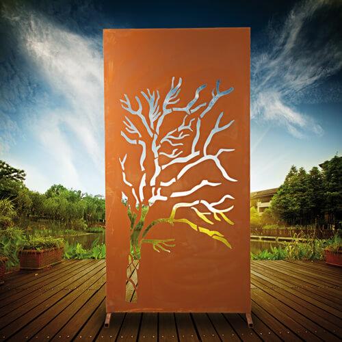 edelrost sichtschutzwand weide angels garden dekoshop. Black Bedroom Furniture Sets. Home Design Ideas