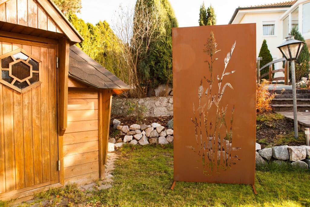 edelrost sichtschutzwand china angels garden dekoshop. Black Bedroom Furniture Sets. Home Design Ideas