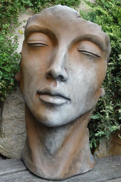 skulptur gesicht frau aus steinguss 50 cm angels garden dekoshop. Black Bedroom Furniture Sets. Home Design Ideas