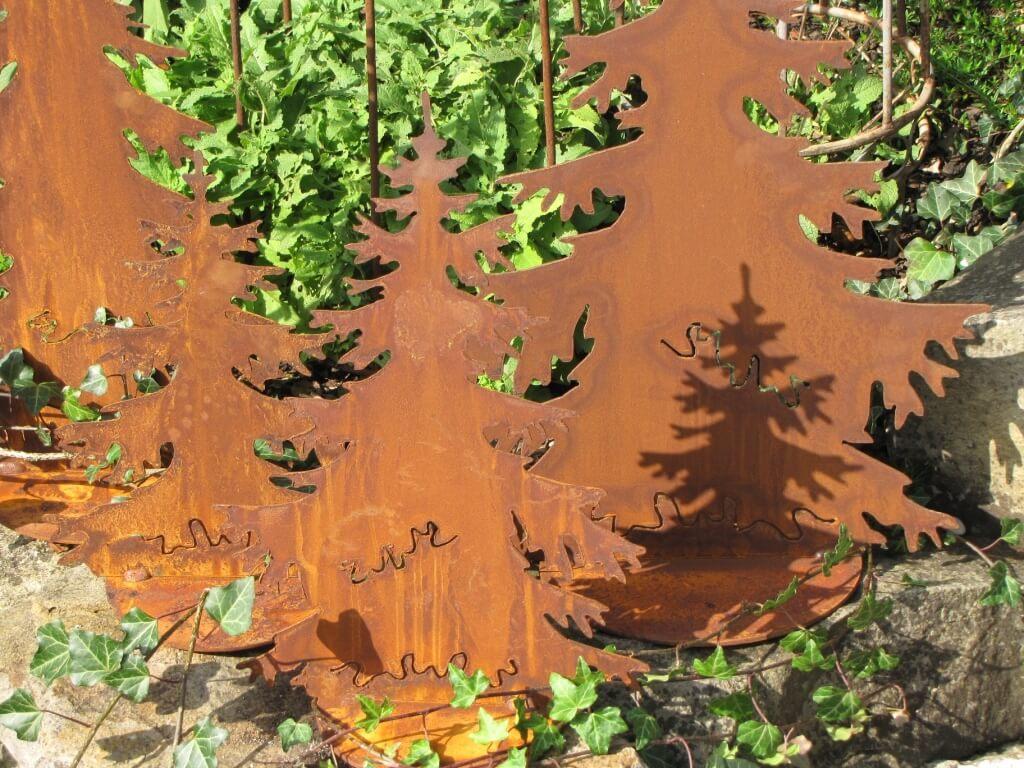 Tannenbaum Edelrost.Tannenbaum Auf Platte Aus Edelrost Angels Garden Dekoshop