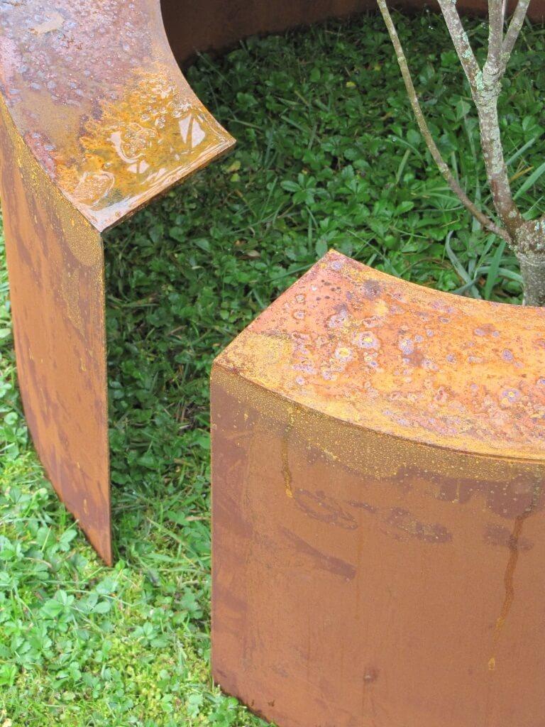 edelrost verblendtopf verblendung aus edelrost 110 cm durchmesser angels garden dekoshop. Black Bedroom Furniture Sets. Home Design Ideas