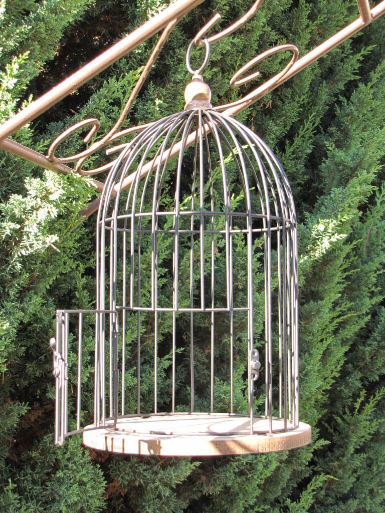 vogelk fig zum h ngen mit boden in holzoptik angels garden dekoshop. Black Bedroom Furniture Sets. Home Design Ideas