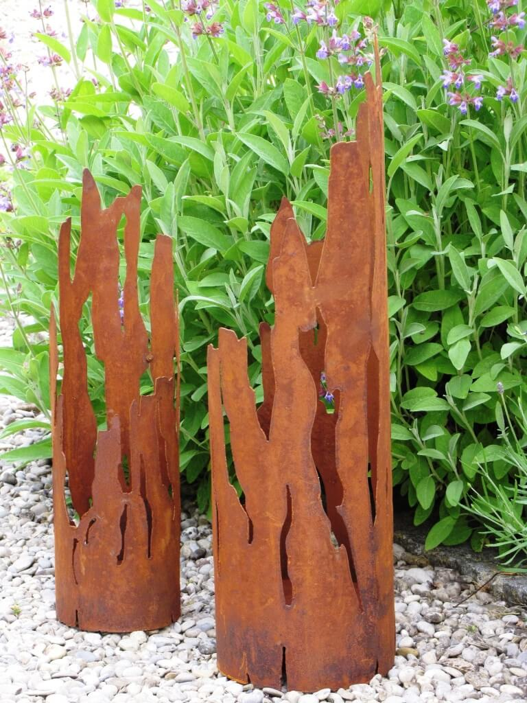 windlicht fackel treibholz aus edelrost - angels garden dekoshop, Garten ideen