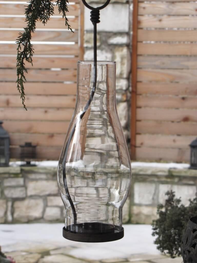 metall windlicht snello inkl glaseinsatz rostoptik