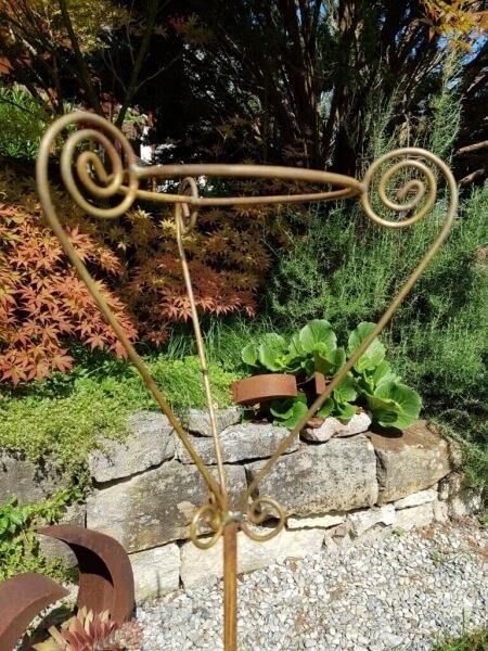 Edelrost Topfhalter Florenz Pflanzstab Rankstab Rost Gartendeko Metall Garten