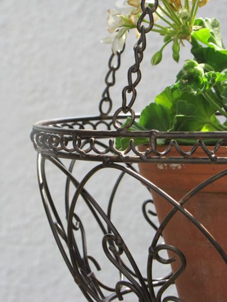 Hängekorb Spiralmuster D 30 cm Blumenampel Hängeampel Pflanzkorb Metall Pflanze