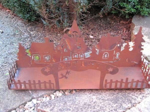 Edelrost winterdorf advent angels garden dekoshop for Gartendeko advent
