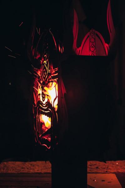 edelrost feuerstelle wikinger angels garden dekoshop. Black Bedroom Furniture Sets. Home Design Ideas
