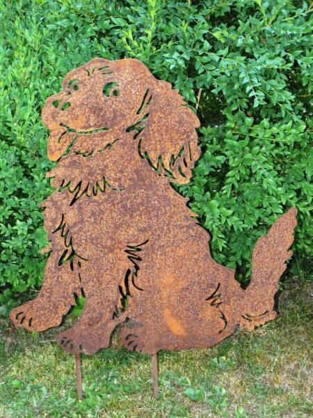 Edelrost hund wuschel angels garden dekoshop for Tiere aus edelrost