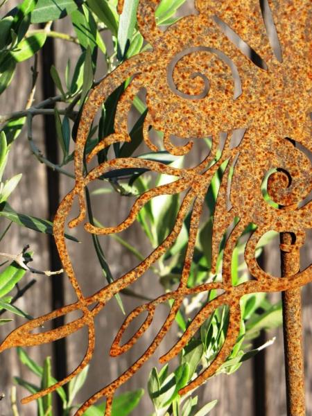 Edelrost gartenstecker chinesischer schmetterling angels for Gartenstecker edelrost