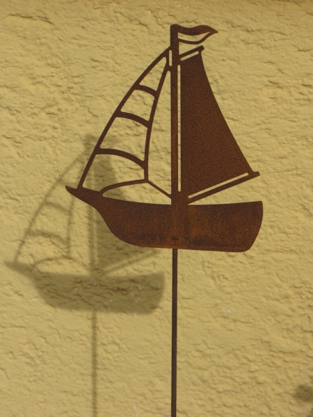 Edelrost gartenstecker segelboot angels garden dekoshop for Edelrost gartenstecker