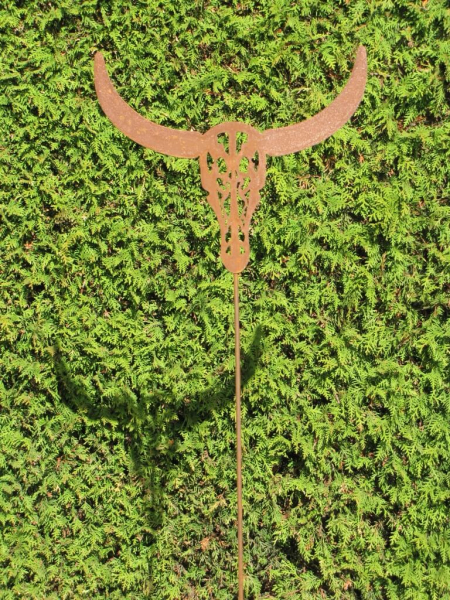 Edelrost gartenstecker taurus angels garden dekoshop for Gartenstecker edelrost