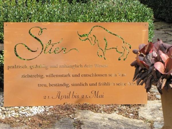 edelrost sternzeichen gedichttafel stier angels garden dekoshop. Black Bedroom Furniture Sets. Home Design Ideas