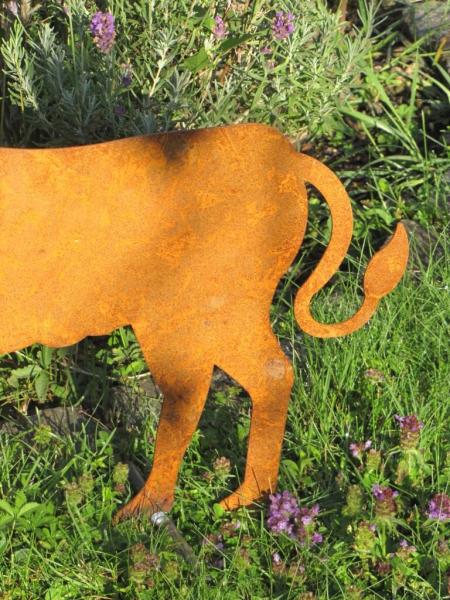 Edelrost kalb auf querstange angels garden dekoshop for Edelrost tiere