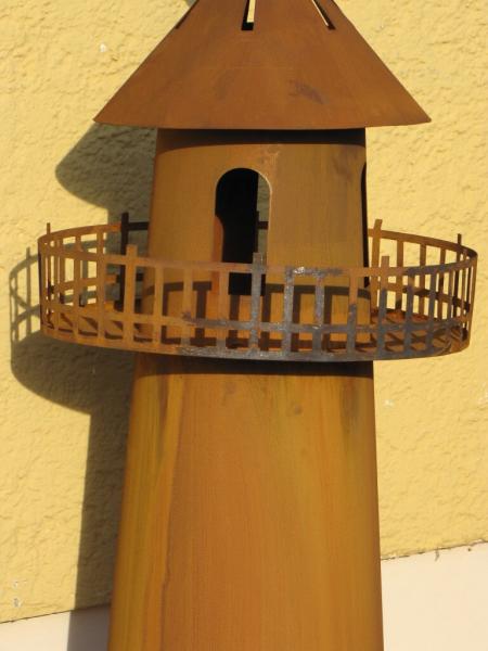 Edelrost dekos ule leuchtturm mit brennbeh lter angels garden dekoshop - Christbaumschmuck leuchtturm ...