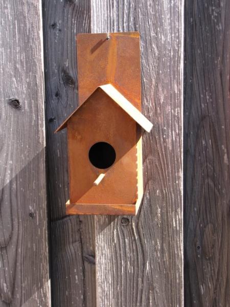 edelrost vogelhaus f r die wand angels garden dekoshop. Black Bedroom Furniture Sets. Home Design Ideas