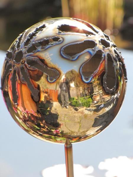 Edelstahl gartenstecker feuerfratze blume angels garden for Gartenstecker metall rostoptik edelstahl
