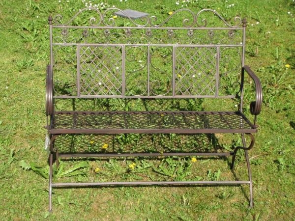 gartenbank scranno aus metall zweisitzer angels garden. Black Bedroom Furniture Sets. Home Design Ideas