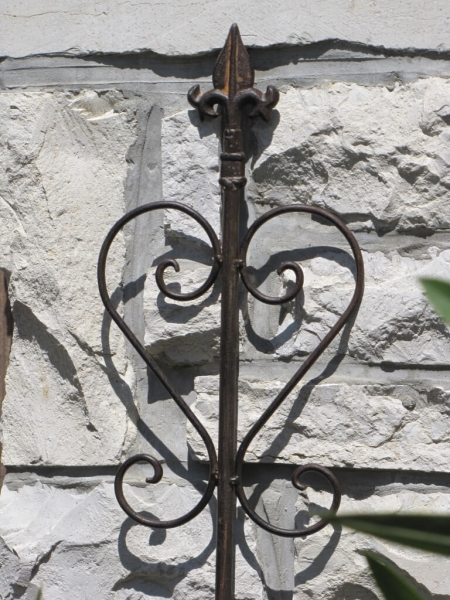 Gartenstecker corleone aus metall und rostoptik gro for Gartenstecker metall rostoptik