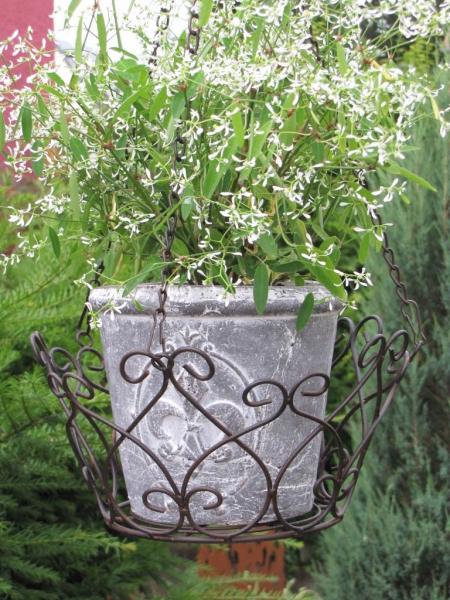h ngekorb paterno aus metall klein angels garden dekoshop. Black Bedroom Furniture Sets. Home Design Ideas