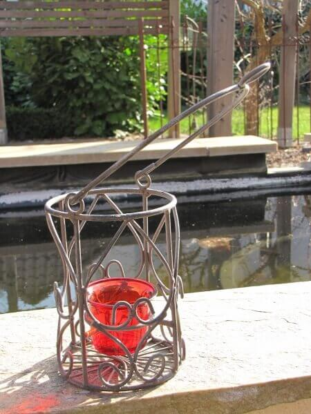Metallwindlicht aus metall inkl glaseinsatz rostoptik for Windlicht rostoptik