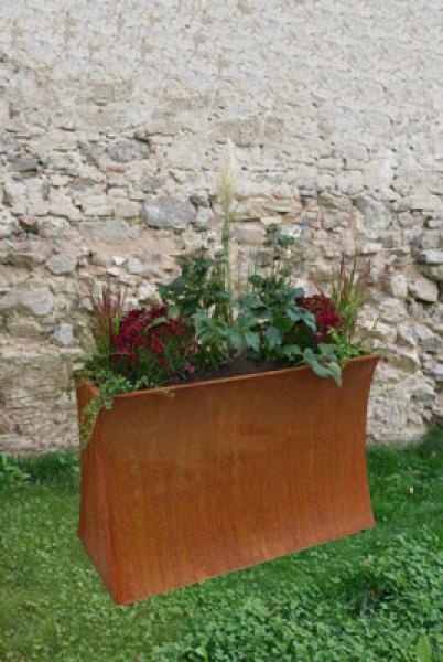 edelrost raumteiler terrassia hochbeet und sichtschutz. Black Bedroom Furniture Sets. Home Design Ideas