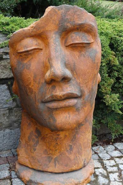 skulptur gesicht mann aus steinguss 115 cm angels garden dekoshop. Black Bedroom Furniture Sets. Home Design Ideas