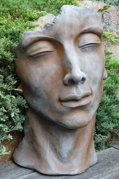 skulptur gesicht mann aus steinguss 53 cm angels garden dekoshop. Black Bedroom Furniture Sets. Home Design Ideas