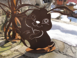 Osterhase Easter Bunny aus Edelrost
